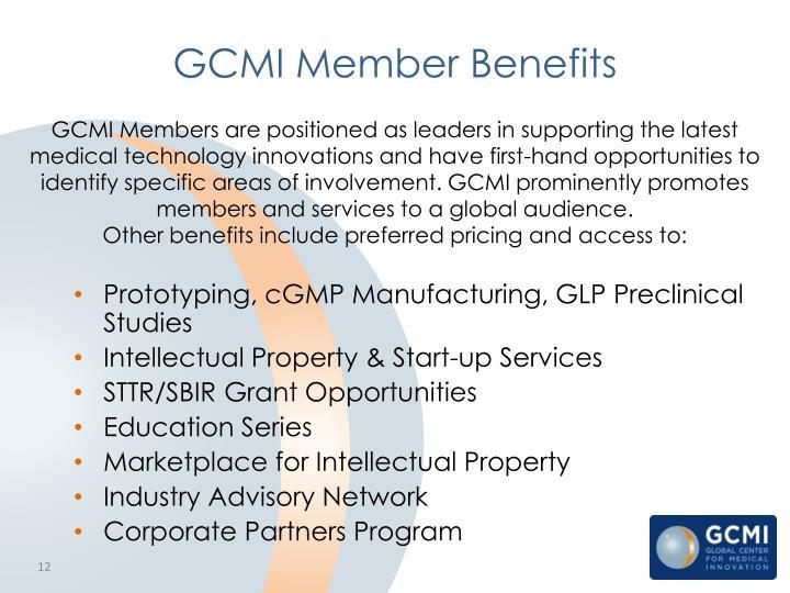GCMI Member Benefits