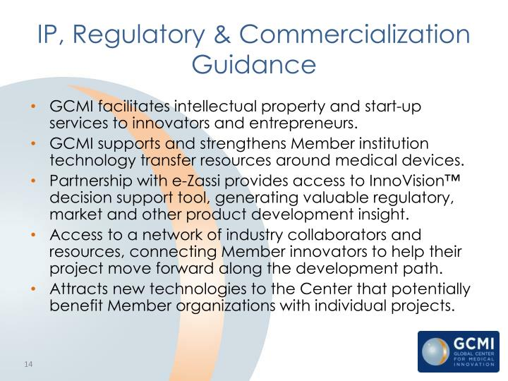 IP, Regulatory & Commercialization Guidance