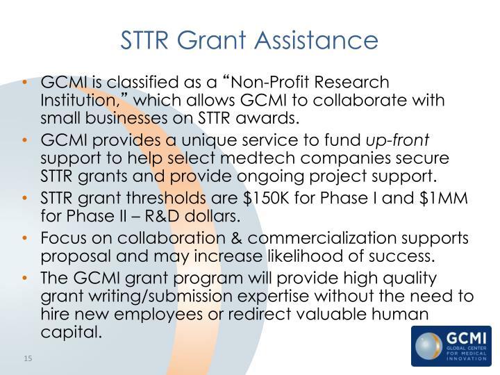 STTR Grant Assistance