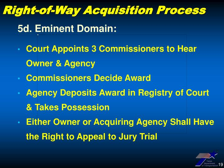 Right-of-Way Acquisition Process