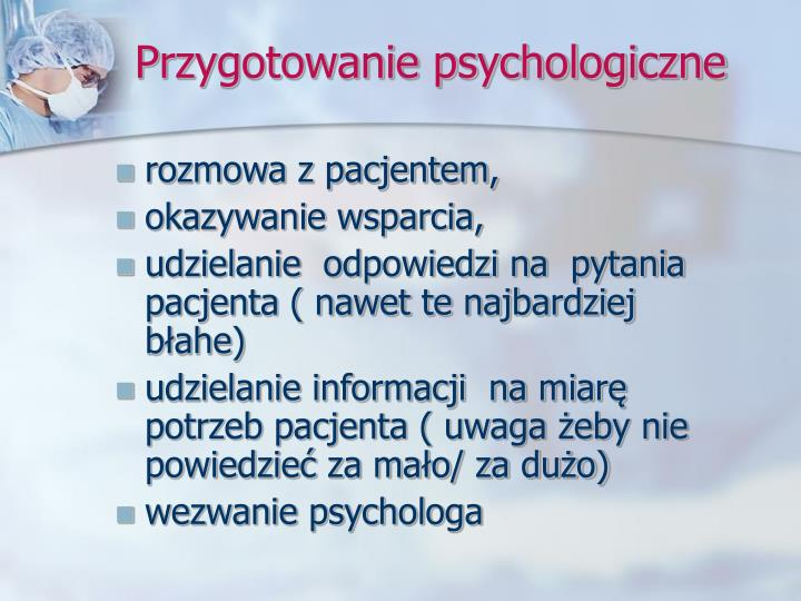 Przygotowanie psychologiczne