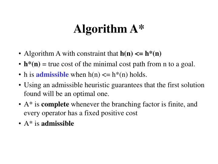 Algorithm A*