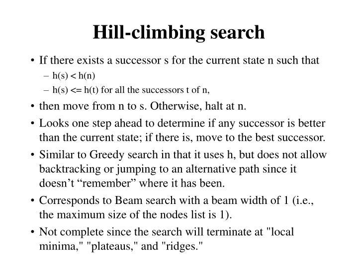 Hill-climbing search