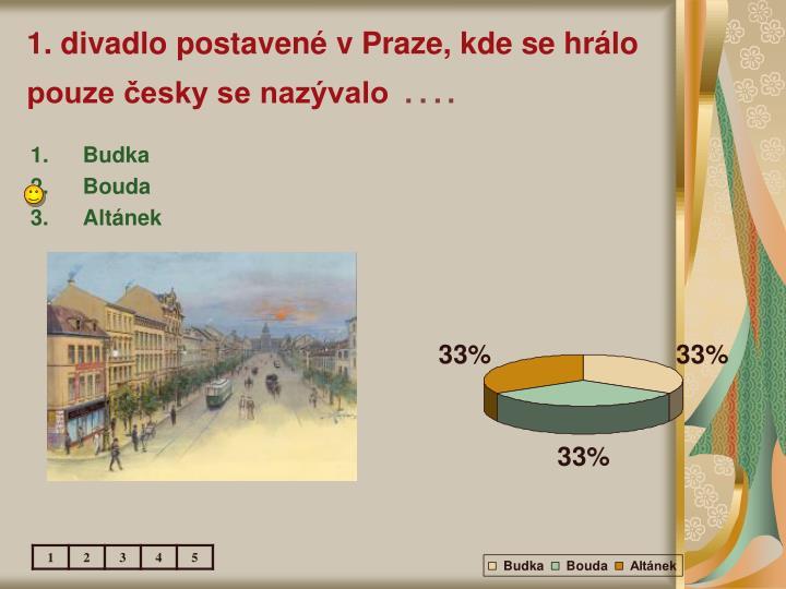 1. divadlo postavené v Praze, kde se hrálo pouze česky se nazývalo