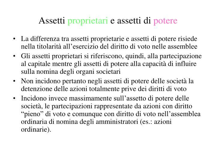 Assetti