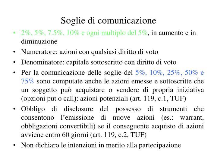 Soglie di comunicazione