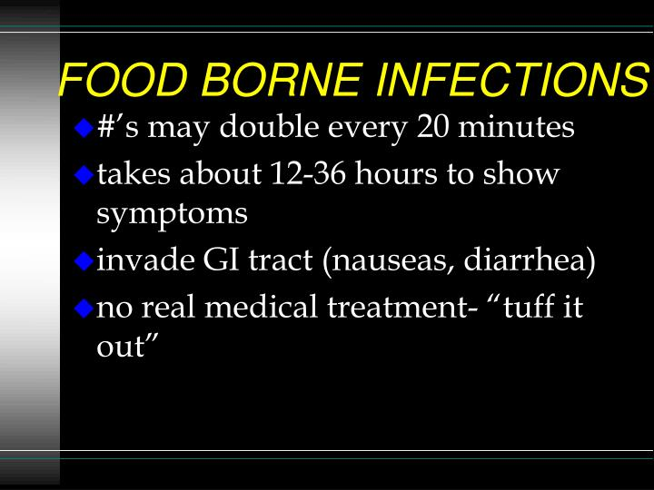Food borne infections1