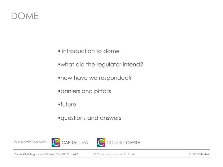 introduction to dome
