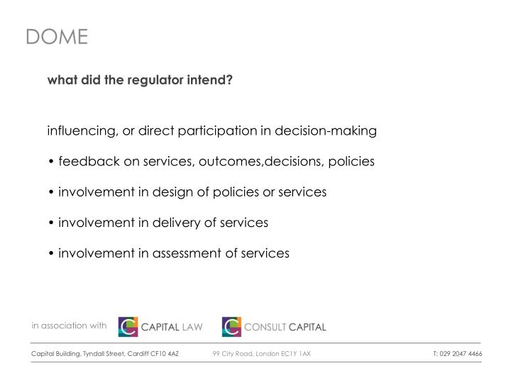 what did the regulator intend?