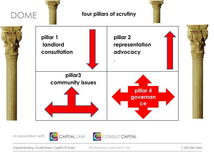 four pillars of scrutiny