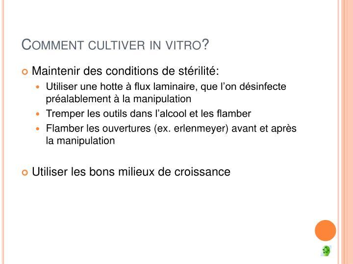 ppt la culture des cellules in vitro powerpoint presentation id 3016485. Black Bedroom Furniture Sets. Home Design Ideas