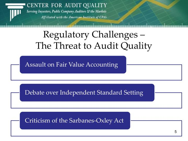 Regulatory Challenges –