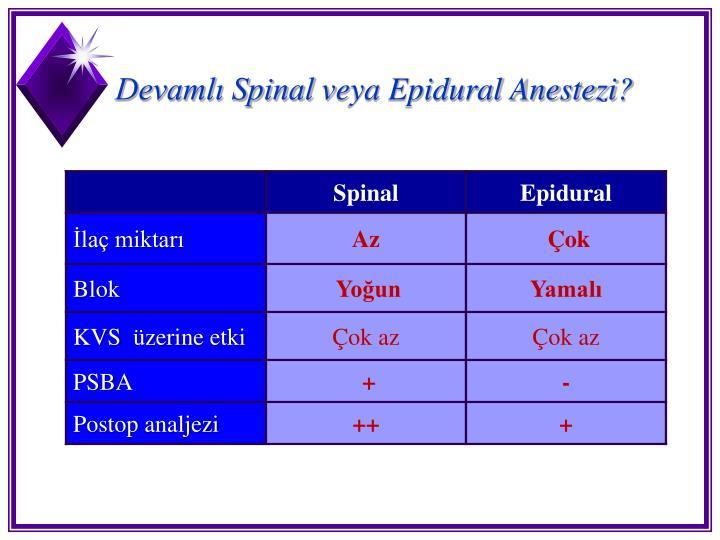 Devamlı Spinal