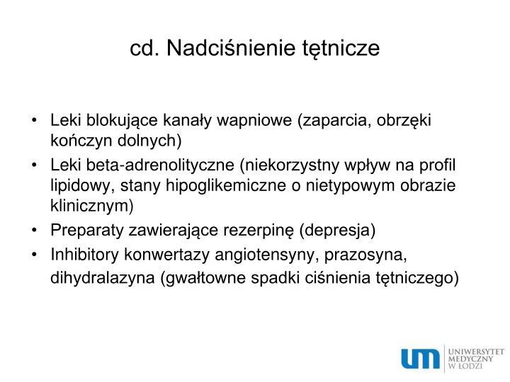 cd. Nadciśnienie tętnicze