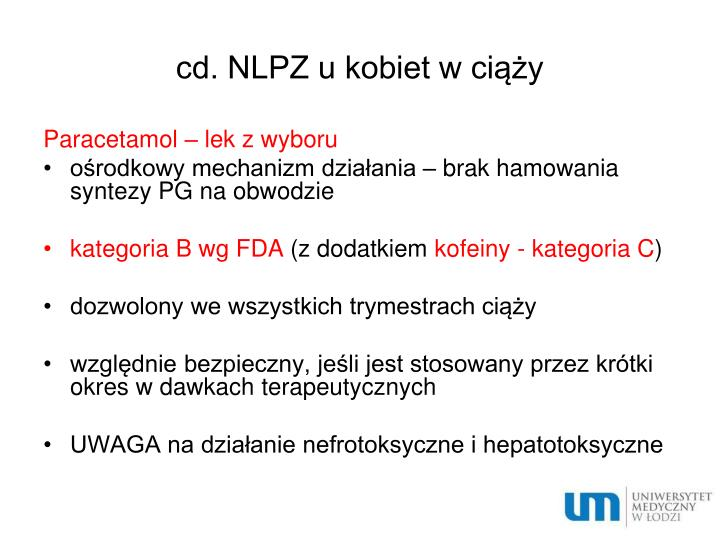 cd. NLPZ u kobiet w ciąży