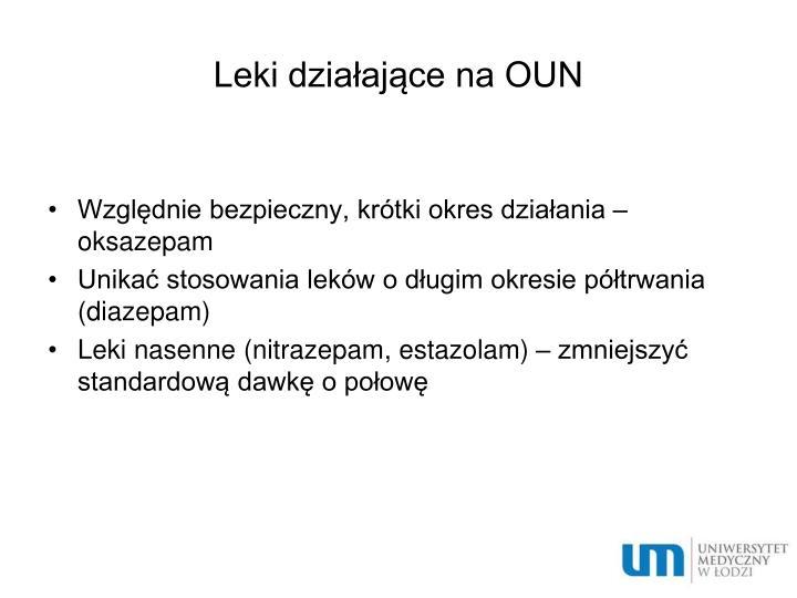Leki działające na OUN