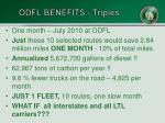 odfl benefits triples