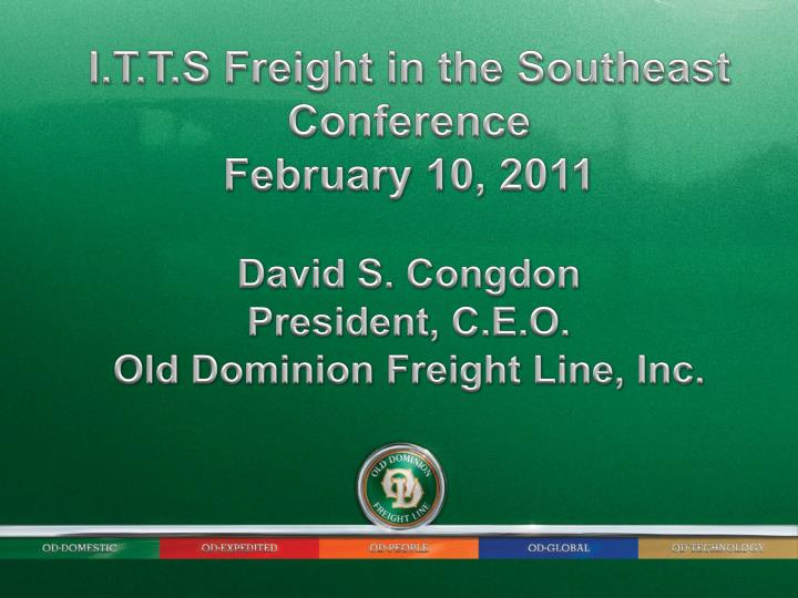 I.T.T.S Freight in the Southeast