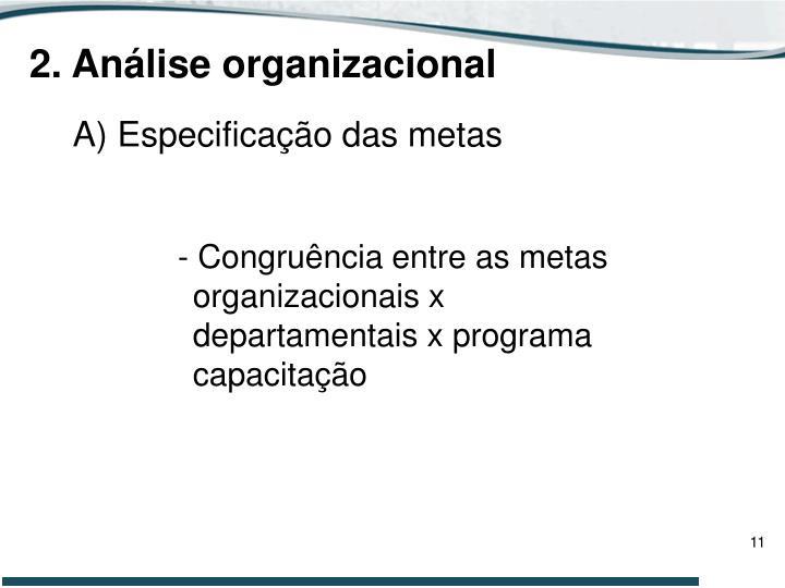 2. Análise organizacional