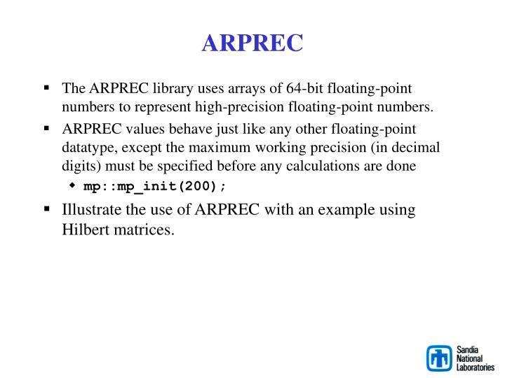 ARPREC