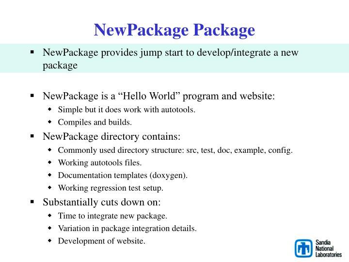 NewPackage Package