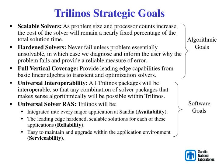 Trilinos Strategic Goals