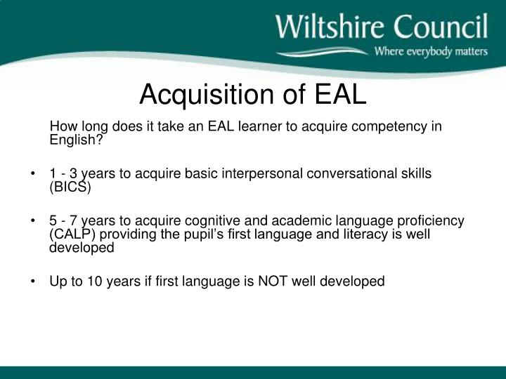 Acquisition of EAL