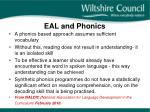 eal and phonics