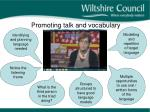 promoting talk and vocabulary
