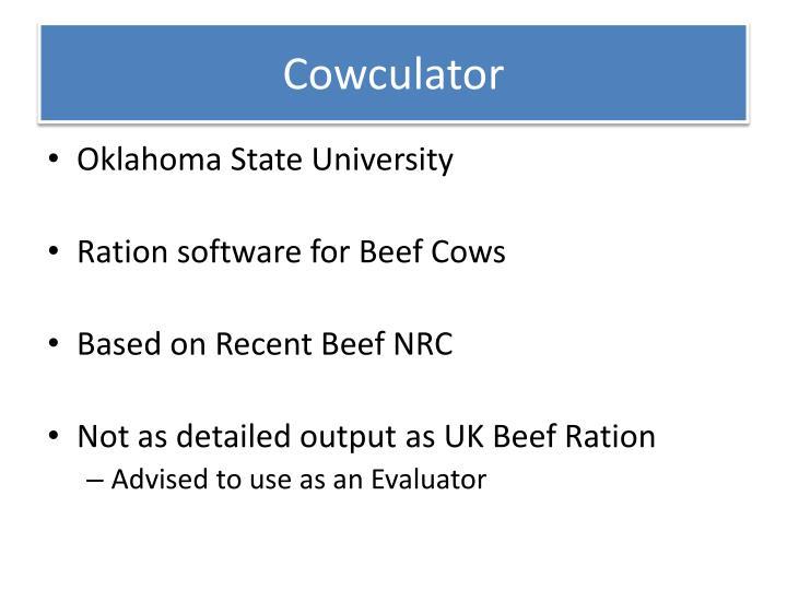 Cowculator