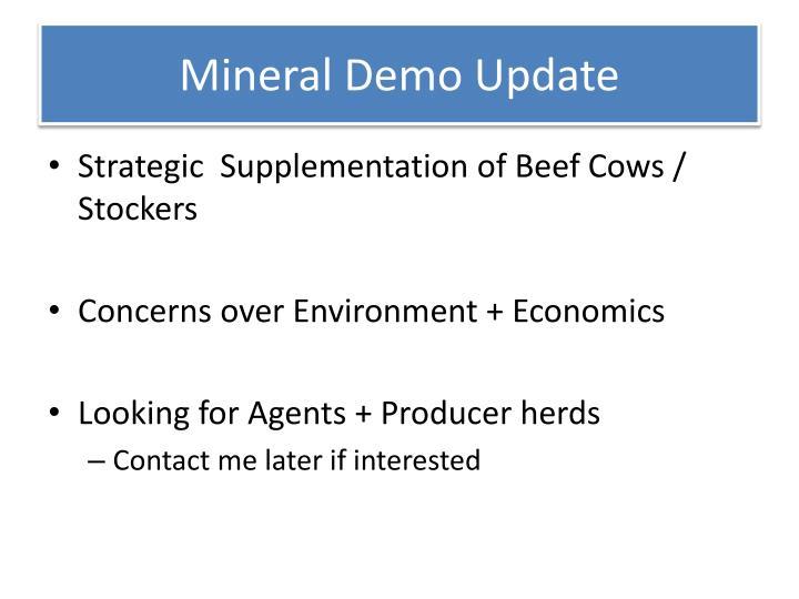 Mineral Demo Update