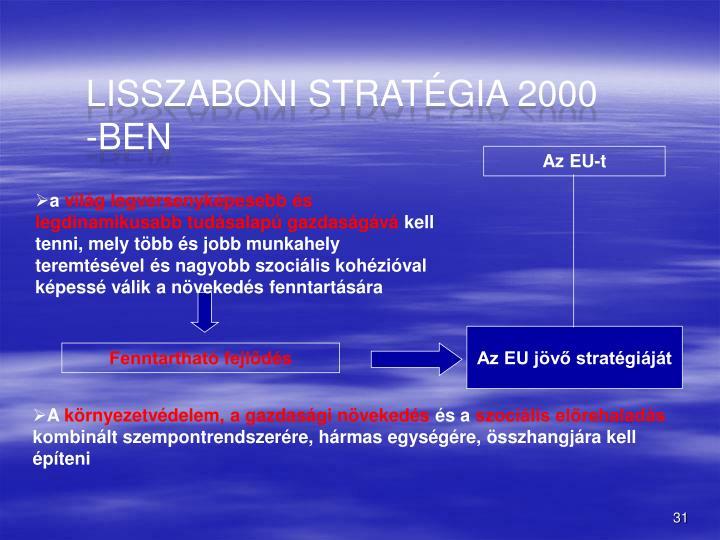 Lisszaboni stratgia 2000