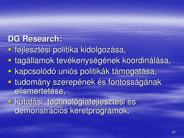 DG Research: