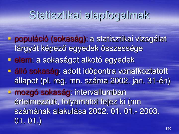 Statisztikai alapfogalmak