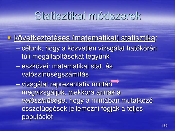 Statisztikai mdszerek