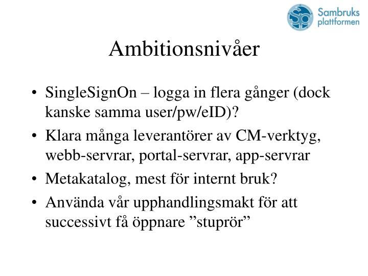 Ambitionsnivåer