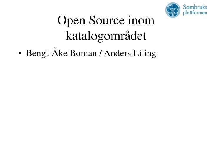 Open Source inom katalogområdet