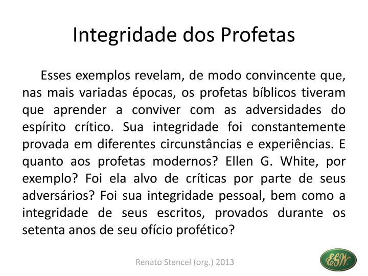 Integridade dos Profetas
