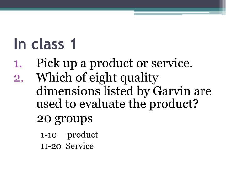 In class 1
