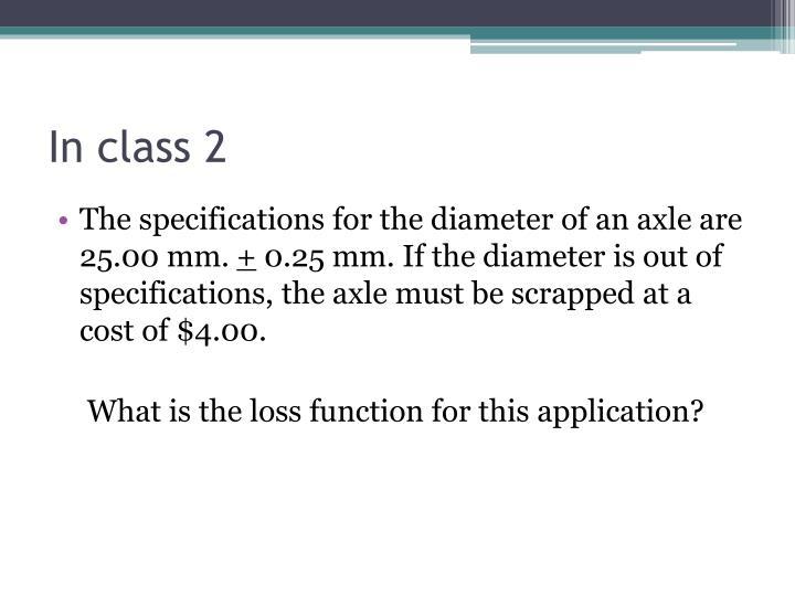 In class 2