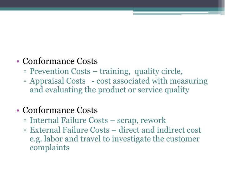 Conformance Costs