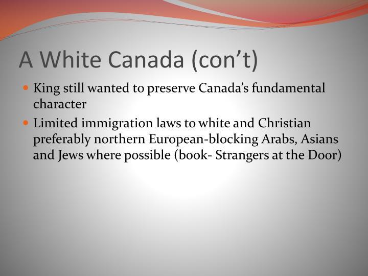 A White Canada (