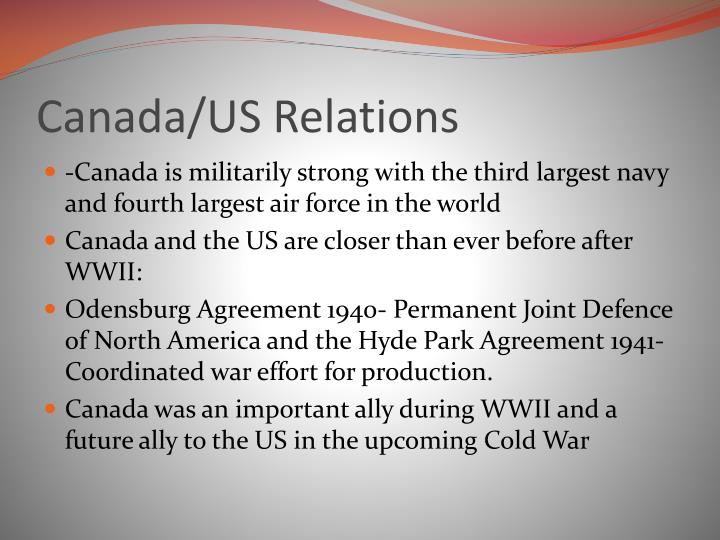 Canada/US Relations