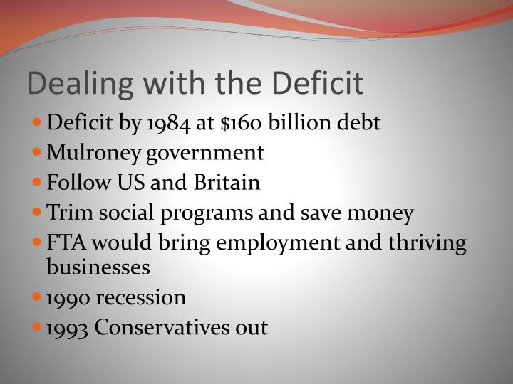 Dealing with the Deficit