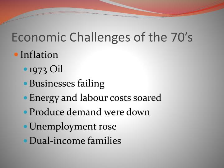 Economic Challenges of the 70's