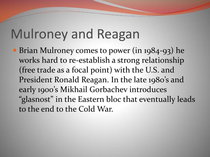 Mulroney and Reagan