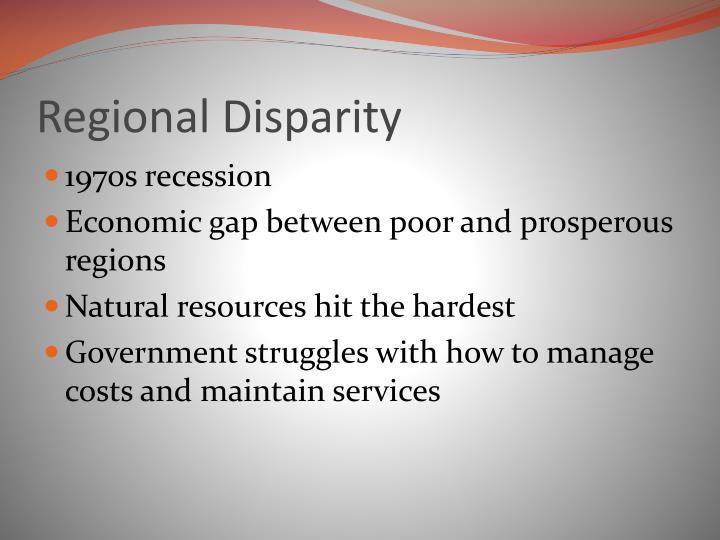 Regional Disparity