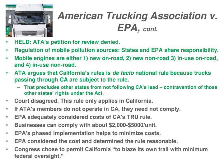 American Trucking Association v. EPA,