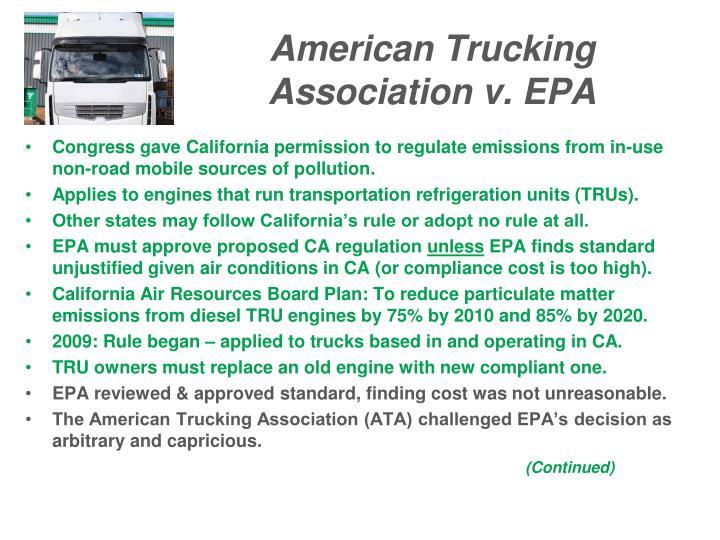 American Trucking Association v. EPA