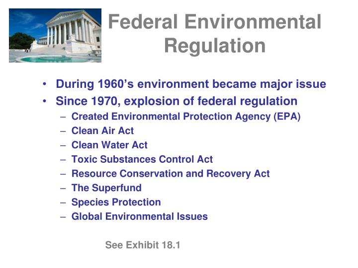 Federal environmental regulation
